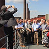 Guided tour on the roof of the mixing plant at coking plant Zollverein in Essen